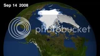 sea ice extent September 14, 2008