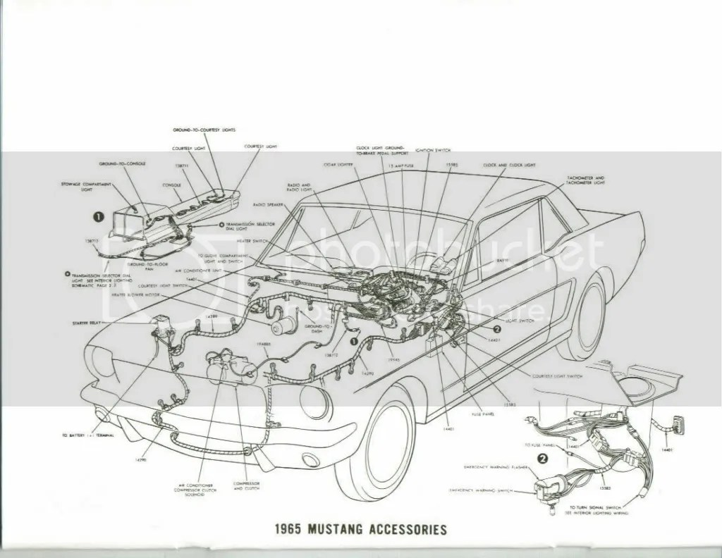 mustang wiring diagrams · 65 rally pac