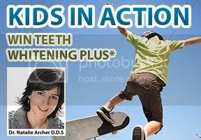 Kids in Action photo contest on Lenzr sponsored by Toronto dentist Dr Natalie Archer