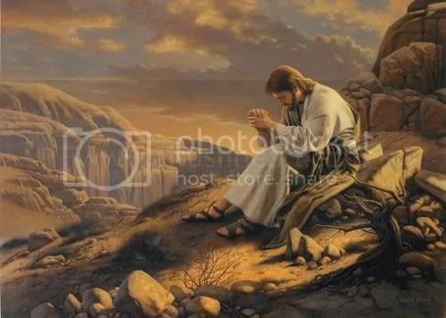Jesus Praying Pictures, Images and Photos