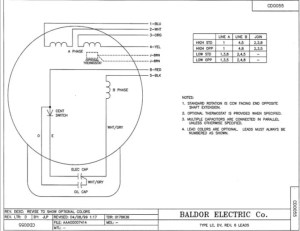 Wiring Questions replacing an import motor with a Baldor