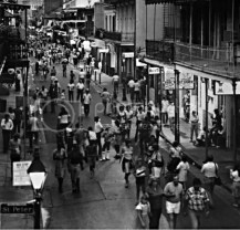 Nighttime on Bourbon St. in New Orleans