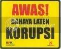 banner bahaya laten korupsi