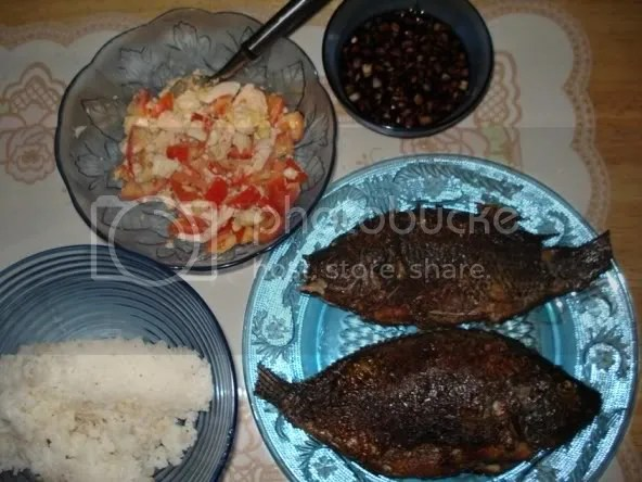 tilapia and salted eggs