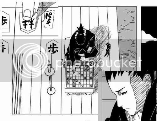 Shikamaru ponders over a game of Shogi