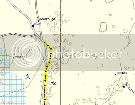 Detalle del Topo Morokko con un track real en formato GPX