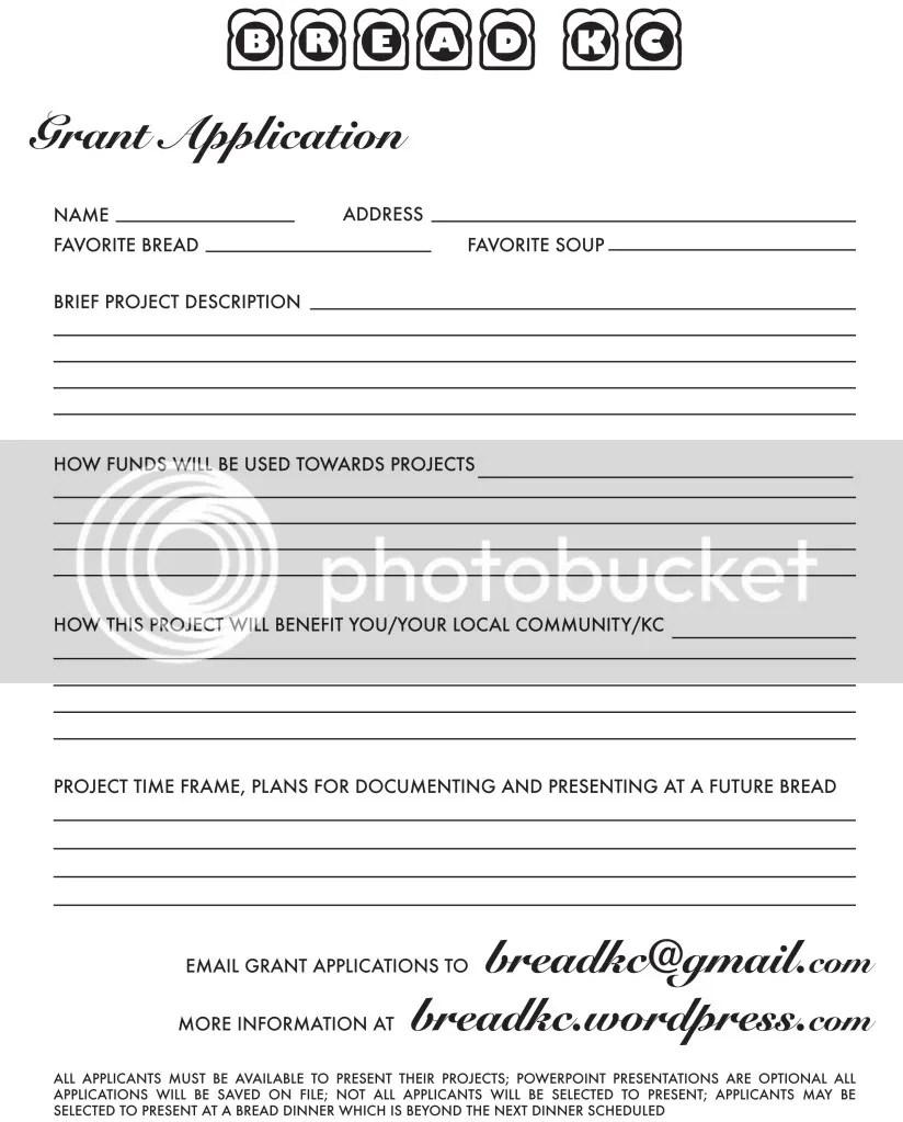 Bread Grant Application