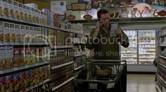 Brody in the supermarket