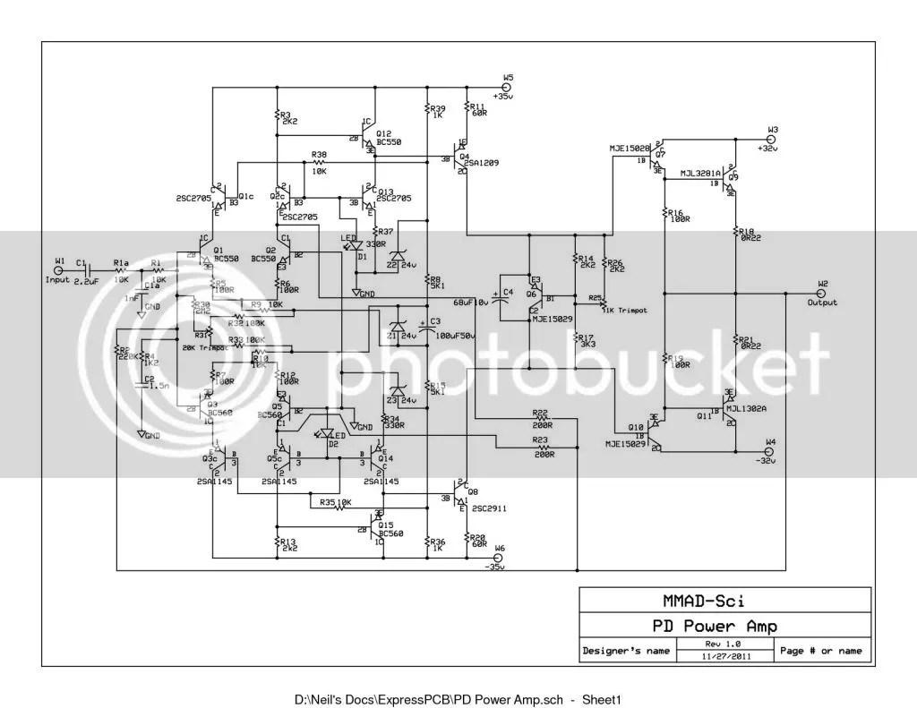 Power Amp Schematic