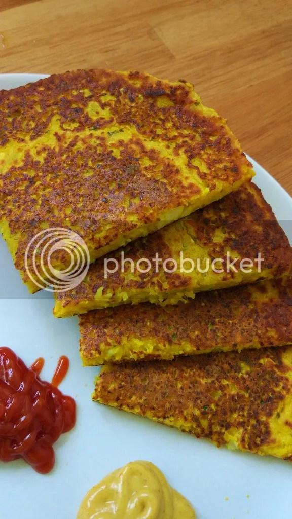 Indian radish pancake (Muli chila)