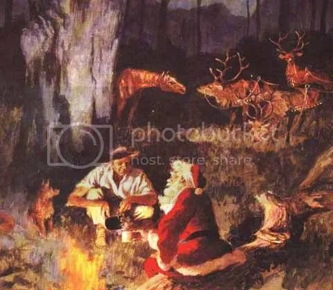 Santa and the Drover Pictures, Images and Photos