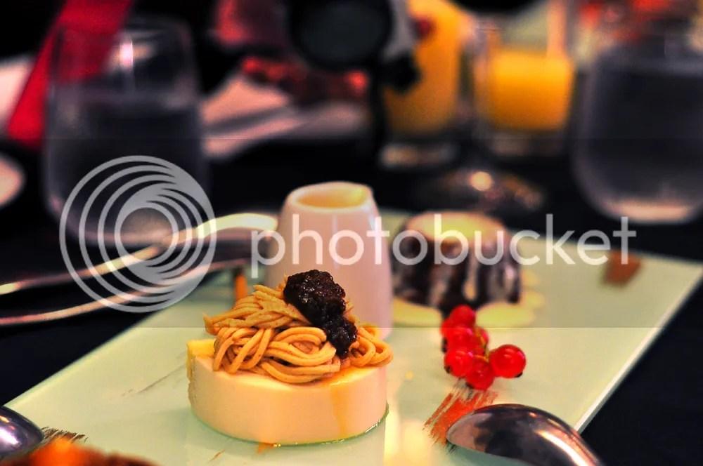 Chestnut Eggnog Raisin Mousse.