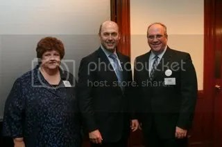 Marge Berglind, U.S. Rep. Jerry Weller (R-IL), and Matt Testa.