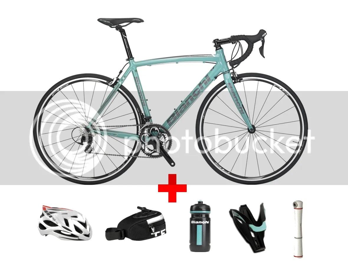 Bike Bianchi Via Nirone 7 Race Alu Route Shimano Helmet