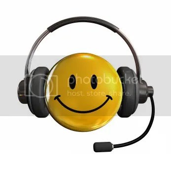 Customer Service Happy Face Wearing a Headset
