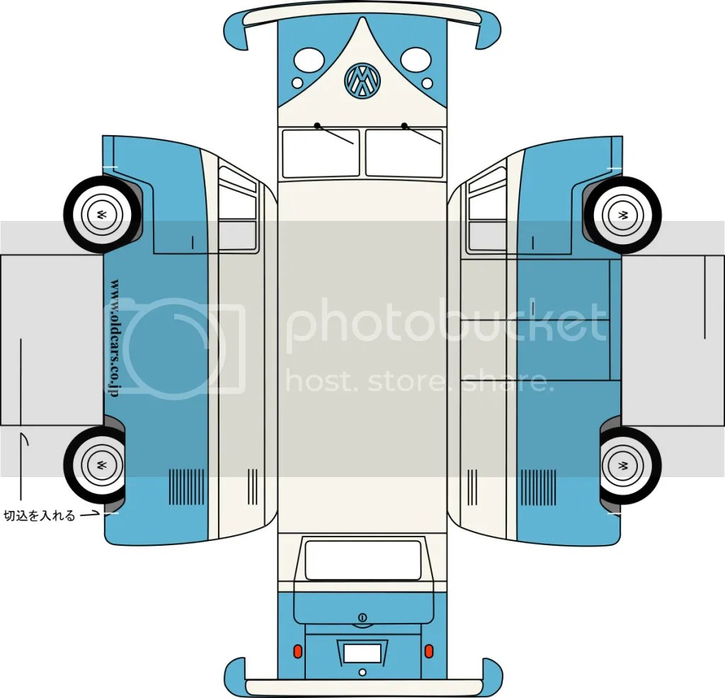 VW Bus Paper Model