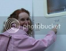 Sue Silverman on set of Love Sick
