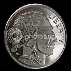 buffalo round silver coin