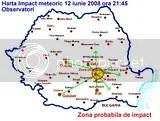 Meteorit cazut in Romania