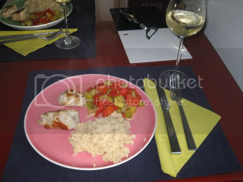 Putenroulade mit Risotto