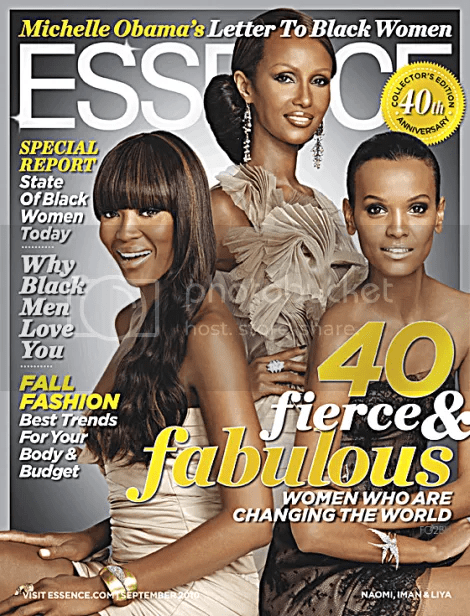 NAOMI LIYA AND IMAN COVERS ESSENCE SEPTEMBER 2010 COVER ISSUE