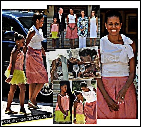 michelle and sasha obama spain trip