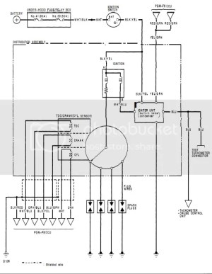 Wiring Diagram for the Ignition System  HondaTech