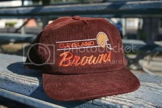 Classic Cleveland Browns corduroy cap