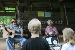 Kids listening to music at Museum of Appalachia by Shannon Hurst Lane