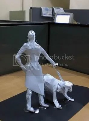 patung kertas 2