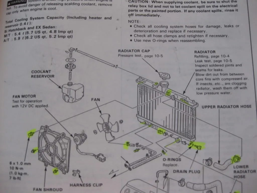 Accord Engine Diagram Honda Car Radiator Pictures