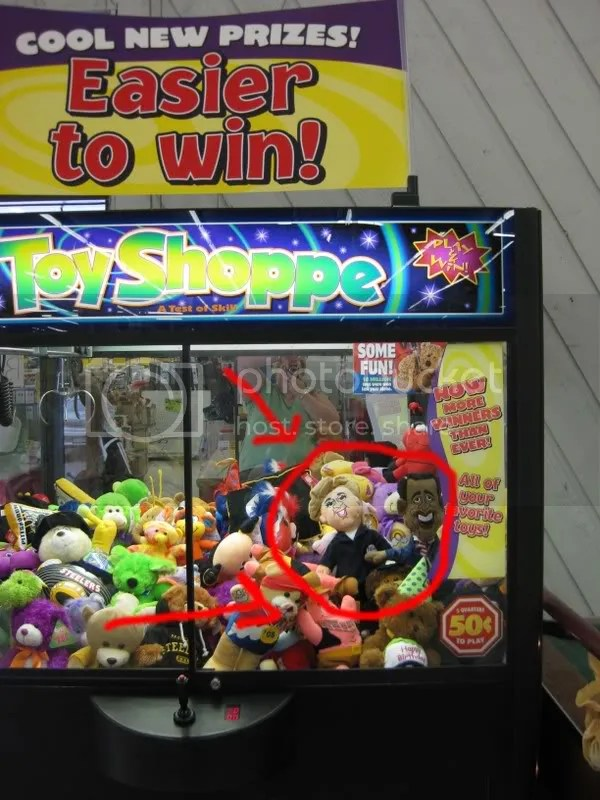 This particular claw grab machine was located at Ollies in Allentown.