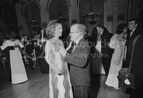 Truman dancing with Princess Lee Radziwill at the Black & White Ball
