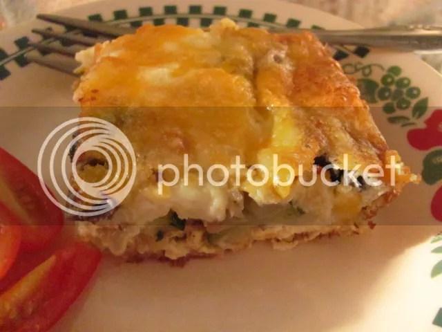 Crustless Zucchini Mushroom Feta Quiche | Louanne's Kitchen