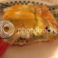 Crustless Zucchini Mushroom Feta Quiche