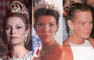 Princess Grace (with Princess Caroline and Princess Stephanie)