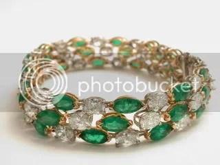 Oscar Heymann\'s Emerald and Diamond Bracelet ($10,000)