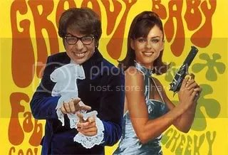 Elizabeth Hurley with Austin Powers
