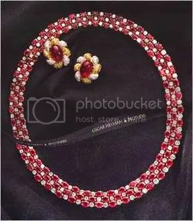 Oscar heymann\'s Ruby and Diamond Necklace ($320,000)