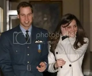 Britain\'s Prince William and girlfriend Kate Middleton at RAF Cranwell in England