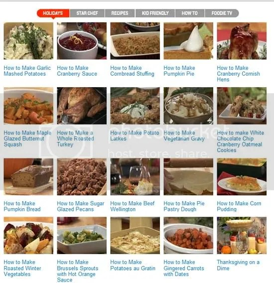iVillage food recipes videos tutorials thanksgiving