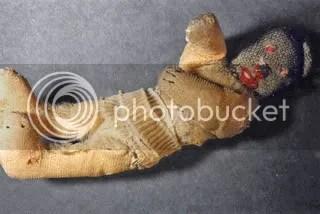 Fred Lessing's teddy bear, via http://www1.yadvashem.org/yv/en/exhibitions/nochildsplay/hiding1teddy.asp