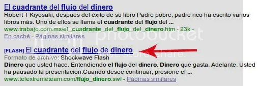 Contenido Flash indexado por Google