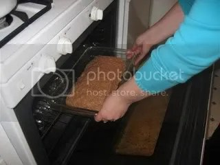 Putting in Oven