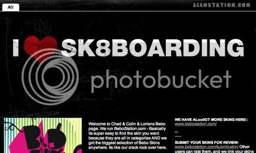Skateboarding Bebo SKins
