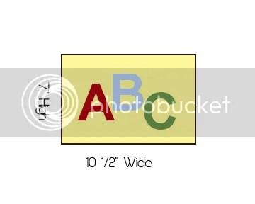 Alphabet Quilt Step 1