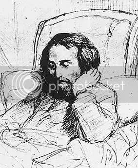Marc Charles Gabriel Gleyre, Der kranke Heinrich Heine, Bleistiftzeichnung 1851