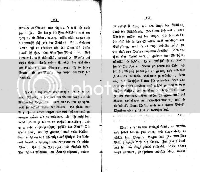 Hölderlin, F.W. Waiblinger, Phaëton 1823, Seite 154 bis 155