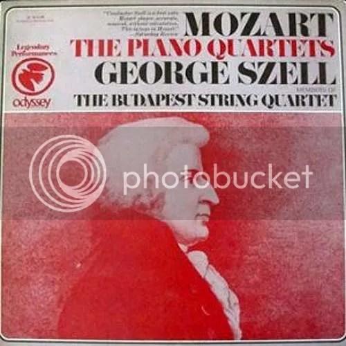 LP-Cover Mozart, George Szell, Budapest Quartet, Piano Quartets