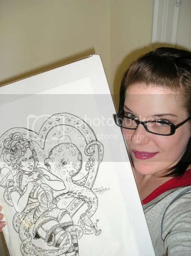 Nicola Black. Woo hoo, I got my Molly Crabapple piece, April 18, 2008